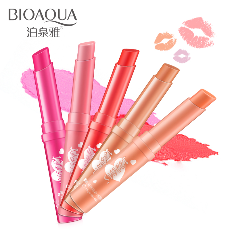 Sweet moist dazzle colour lip balm refrigerant color keeping lasting moisturizing lip gloss female font b