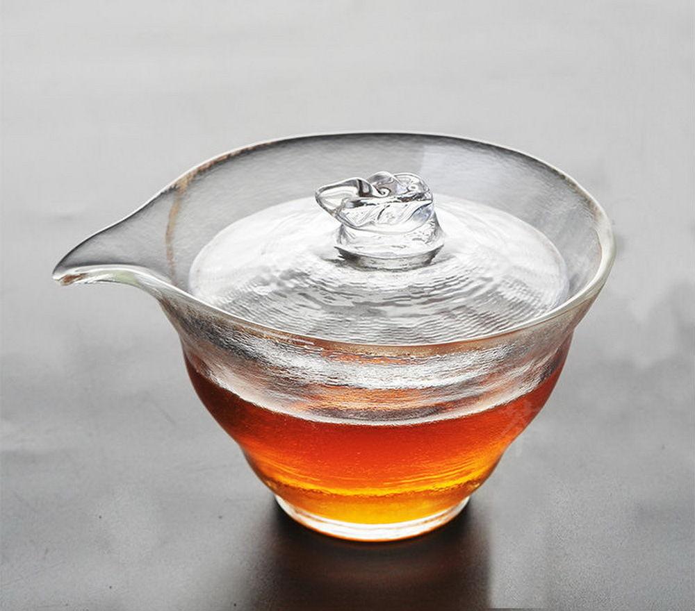 Récipient de brassage de thé Gongfu en verre satiné de haute qualité fait main 120 ml 4.05 oz