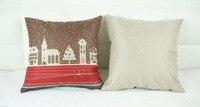 Christmas gift car set Cushion Without Core Custom Cotton Decorative Throw Pillows Sofa Chair Cushions Home Decor 45*45cm
