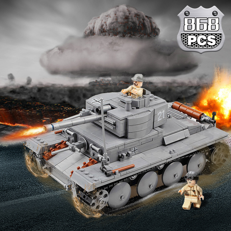 Fun Children's building blocks toy compatible Legoes panzer tank model children intelligence education building block toy