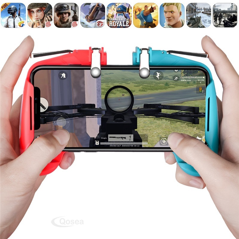 All-in-One PUBG Mobile Game L1R1 Shooter Joystick Game L1 R1 Trigger Button Fire Fire PUBG Gamepad Phone Game For Android IOS