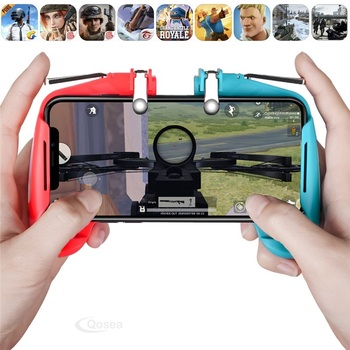 All-in-One PUBG Mobile Game L1R1 Shooter Joystick Game L1 R1 Trigger Button Fire Fire PUBG Gamepad Phone Game For Android iOS pubg mobile gamepad pubg controller for iphone android ios for phone l1r1 grip with joystick trigger l1r1 pubg fire buttons