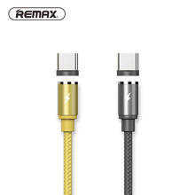 Remax Magnetic usb type c Cable with LED Light for Type-C USB C Cable fast Charger for Samsung S8 HUAWEI mate 10 P10 Xiaomi 6