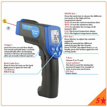 Buy online HoldPeak -30~550 Degree Digital Non Contact Infrared Thermometer Meter Laser Temperature Detector Temperature measuring gun 880N