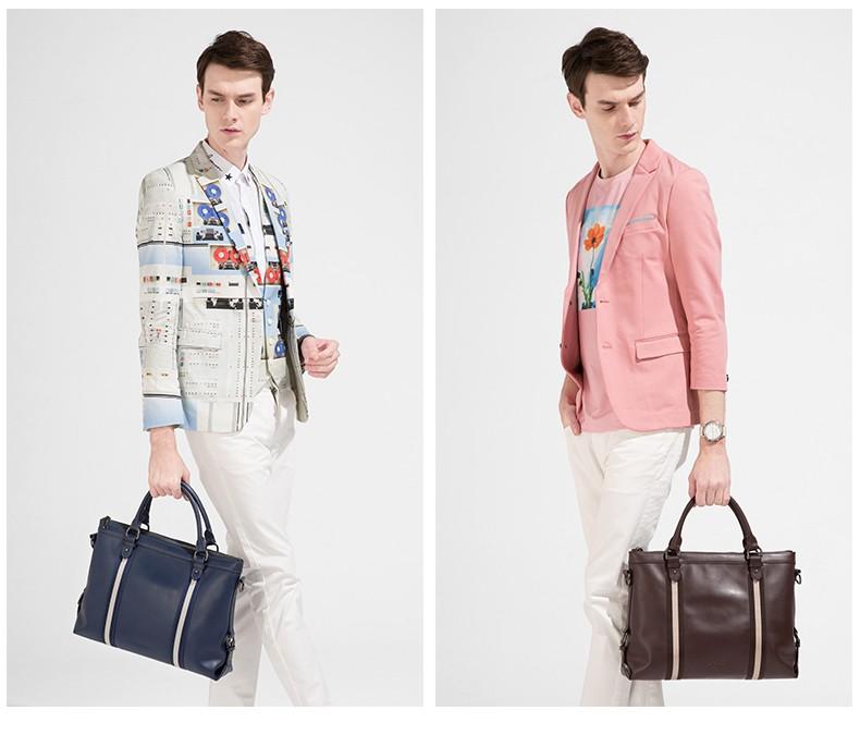 SAMMONS men genuine leather briefcase 4