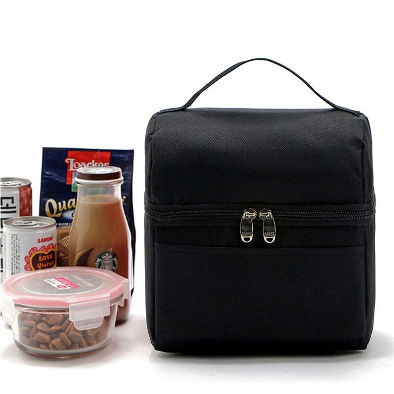 Lunch Bags Cooler Thermal Bag Women Lunchbox Lady Portable Handbag Children Kids Girls Food Bags Insulation