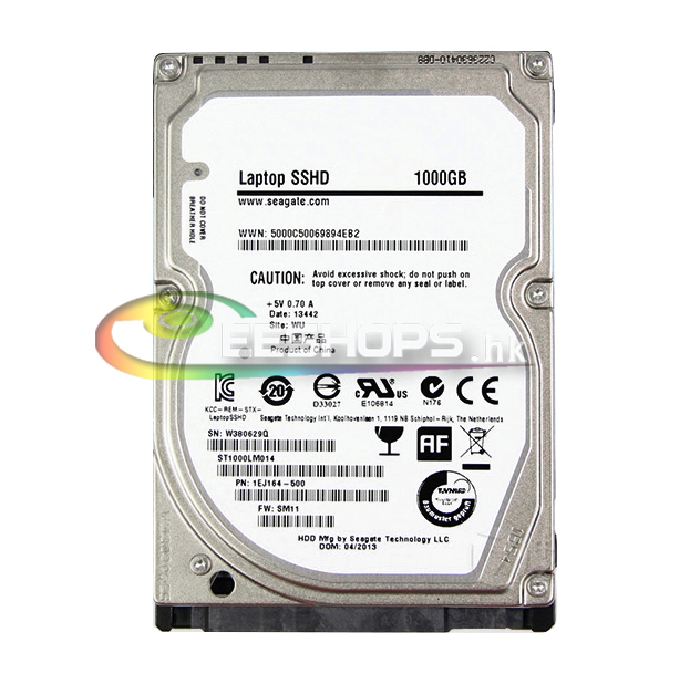 New Genuine for Seagate 1TB 1 TB 2.5 Laptop SSHD Solid State Hybrid Bare Drive ST1000LM014 SATA 6.0Gb/s 9mm 5400 RPM 1000 GB new and retail package for 00wg775 240 gb 3 5 solid state drive sata hot swappable