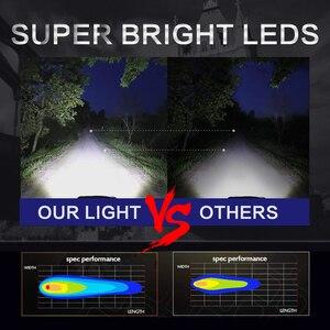 Image 4 - שיתוף אור 3 אינץ 12D Led Worklight 48W מהבהב Strobe לבן ענבר מנורת עבודה לרכב טרקטור משאית לאדה נהיגה ערפל אור 12V 24V