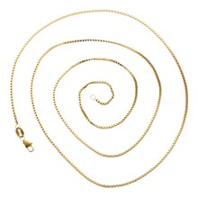 1PCS Wholesale Fashion Jewelry Gold Filled Necklaces Box Chains For PendantsLength inches 30