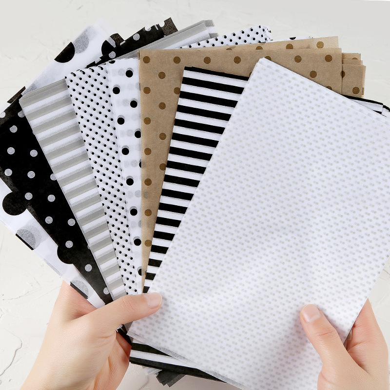 80 Sheets/set Black Geometric Background Collage Material Paper Vintage Line/grid/dot/Decoration Sticker DIY Scrapbooking Diary