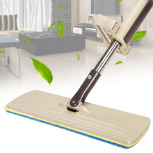 Double-Side Lazy Hand Wash-Free Flat Mop Wood Floor Household Supply Hands-Free Telescopic Washable Mop with Electrostatic Cloth