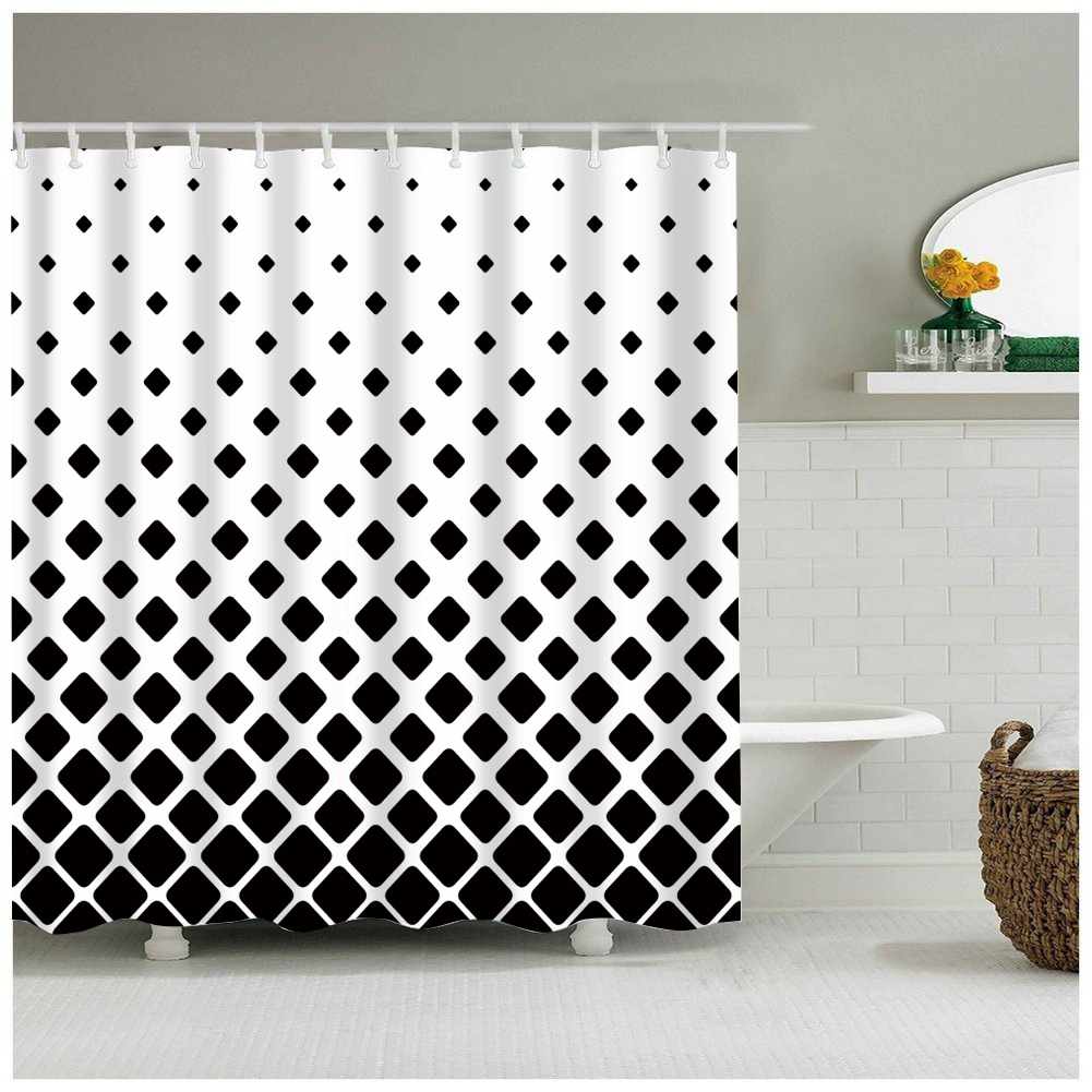 Buy shower curtain white and black and get free shipping on ...