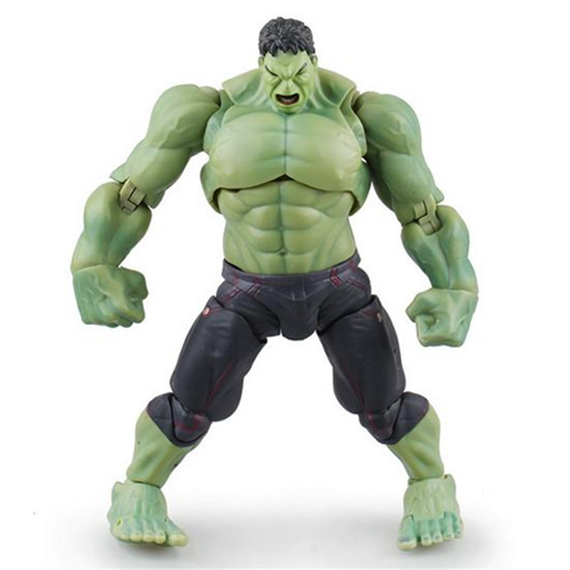 20cm The Avengers Hulk action figures toy for kids 2016 New moveable super hore Hulk the avengers de super heroes series high quality hulk figures the avengers super hero pvc model hulk action figures children kids best gift