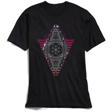 Seed Of Life Men T Shirts Summer T-Shirt 2018 Popular Geometric Mandala Tshirt Short Sleeve Tops Crewneck 100% Cotton Black Tee цена