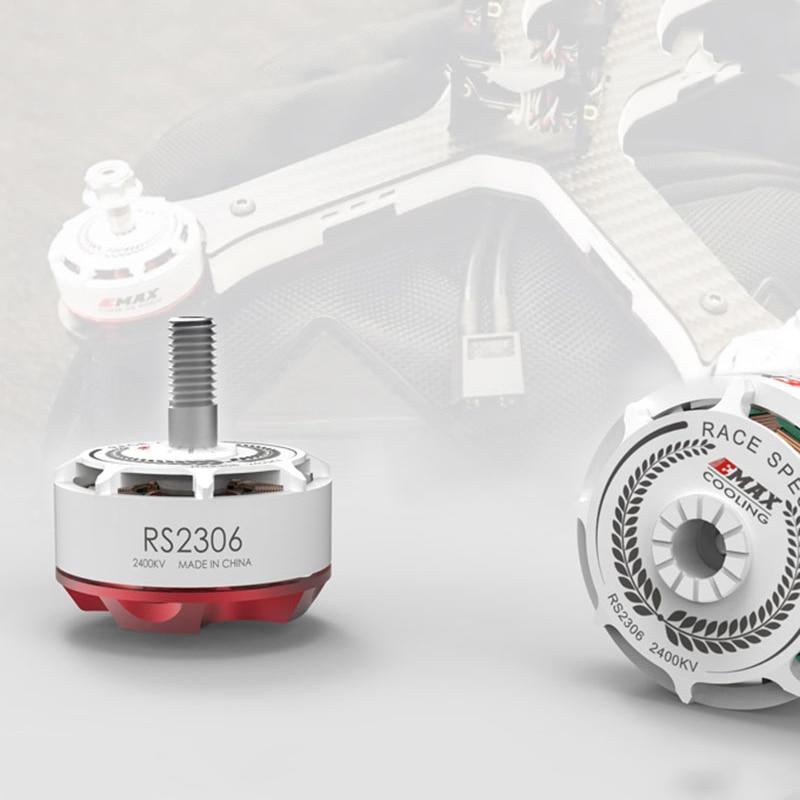 4PCS EMAX RS2306 2400KV 2750KV Brushess Motor White Editions RaceSpec KV2400 KV2750 For FPV RC Quadcopter Multicopter drone DIY