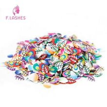 F.Lashes 1000PCs/Set 3D Leaf Series Polymer Clay DIY Nail Art Tip Sticker Decoration Decal Nail Patch Cell Phone Beauty