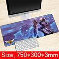 750*300*3mm Logo Computer Gaming League of Legends Mouse Pad Antideslizante Almohadilla De Goma de Escritorio borde de bloqueo versión Speed Alfombrillas de ratón