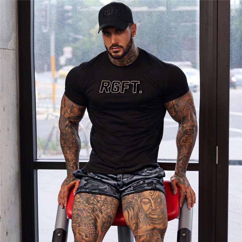 2019 Men Cotton t shirt summer Gyms Fitness Bodybuilding Shirts MenS Short Sleeve male Jogger Casual Fashion Tees Tops clothing in T Shirts from Men 39 s Clothing