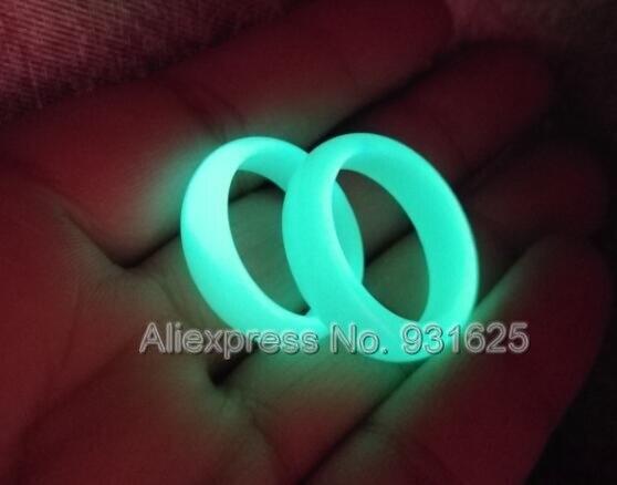 Rarely 8mm Wide Natural Fluorite luminous gem stone Glow in Dark Ring 8-10# luminous stones Rings for woman man Fine Jewelry
