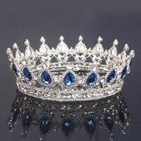 Vintage Wedding Bridal Rhinestone Headband Queen Crown Tiara Hair Accessories
