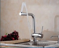 360 degree rotation 100% brass chrome polished kitchen sink faucet mixer taps kitchen accessories