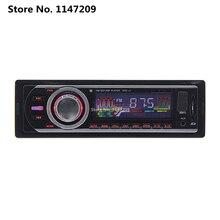 Radio de coche Reproductor de MP3 FM/Usb/1 Din/puerto USB 12 V Audio Del Coche Auto Soporte Multi formato Steoro aux-in modo EQ efecto de luz azul