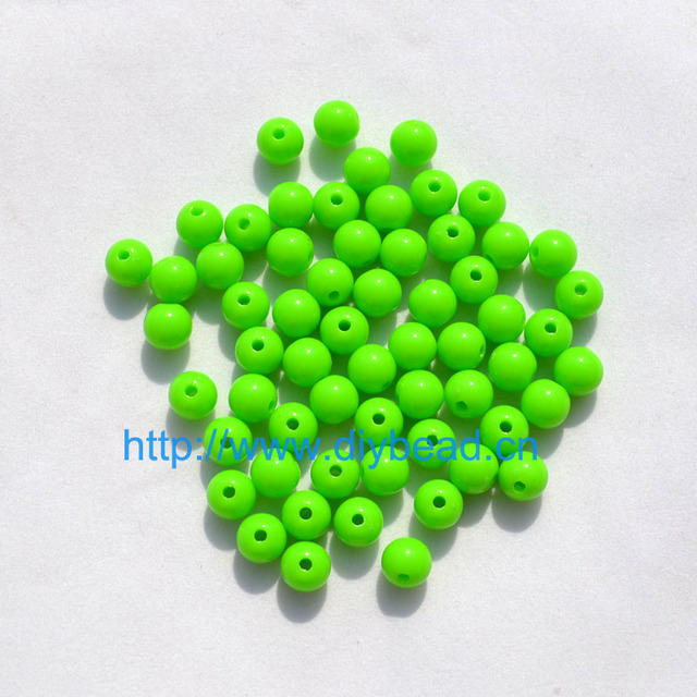 100pcs DIY Bracelet Accessories Children Gift Handcraft Department 18 Color 8MM Round Shape Acrylic Sugar Beads Jewelry Findings