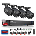 SANNCE 8CH 1080P HDMI DVR NVR HVR CCTV System 800TVL IR Weatherproof Outdoor 4 Cameras Home Security Surveillance Kits 1TB HDD