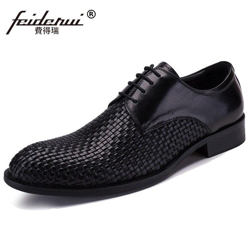 Vestido Formal Auténtico Oxfords Macho Cuero Calzado Vk80 Hombre Pisos Venta Redonda Dedo Pie Derby Negro Zapatos Del Hombres Caliente Marca Hecho Novia De A Mano YxqO75P6Aw