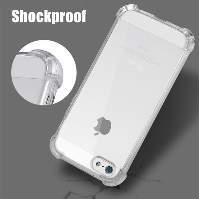 online store 67f53 e0d9e US $2.99 25% OFF|Fashion Silicone Case Cover For iphone SE 5S 5 S  Transparent Shockproof Clear Crystal Rubber Soft TPU Phone Bag Case For  Iphone5-in ...