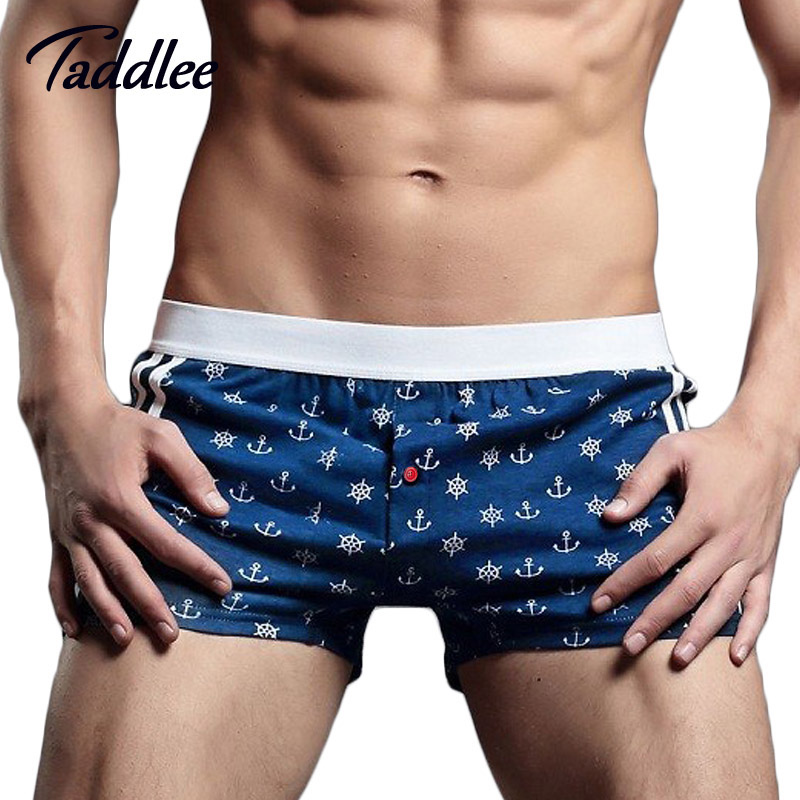 Taddlee Brand Sexy Mens Underwear Boxer Trunks Gay Penis Pouch Home Sleepwear High Quality Man Underwear Boxer Shorts Sleepwear