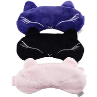 Cute Cotton Eyeshade Sexy Fox Eye Cover Sleeping Eye Mask Breathable Blindfold with Ice Bag Relax Eyes Face Bandage Compress