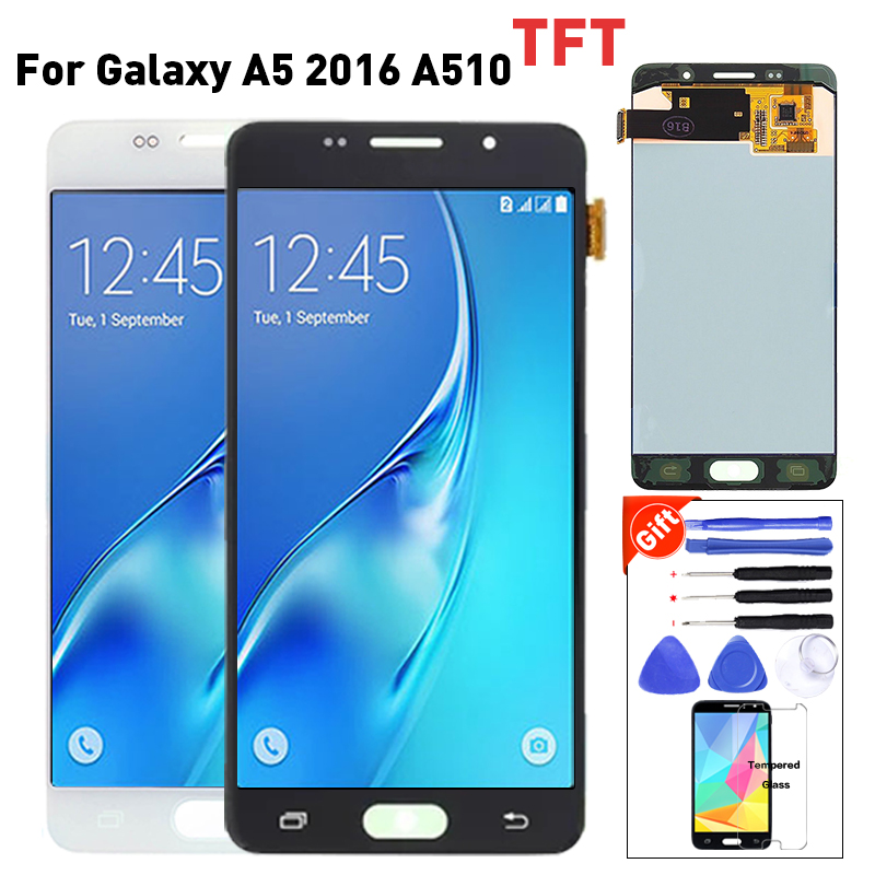 Pour Samsung Galaxy A5 2016 LCD Affichage A510 A510F A510M L'assemblée lcd Display + écran tactile digitizer A510 lcd 100% testé