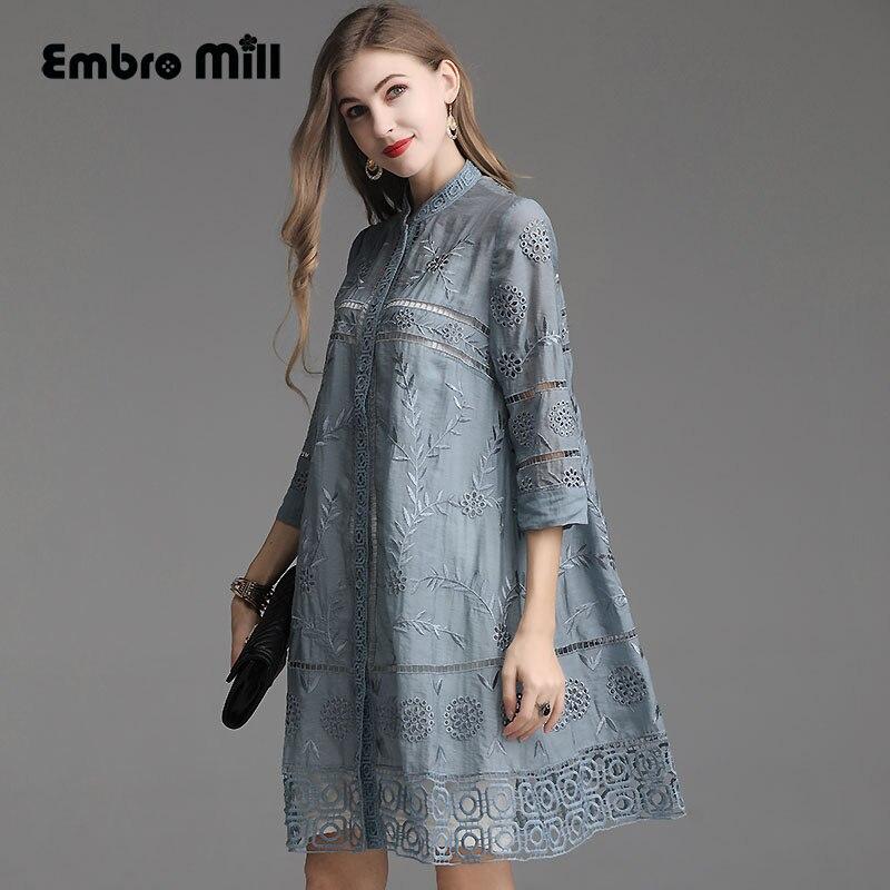 Весна Китайский стиль вышивка полые ретро улучшение раздел пальто модные элегантные тонкая рубашка кардиган женский плюс размеры M 4XL