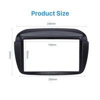 Seicane Double Din Car Stereo Radio Fascia Panel Trim Kit for 2010+ FIAT DOBLO CD Trim Installation Frame Panel Audio Fitting