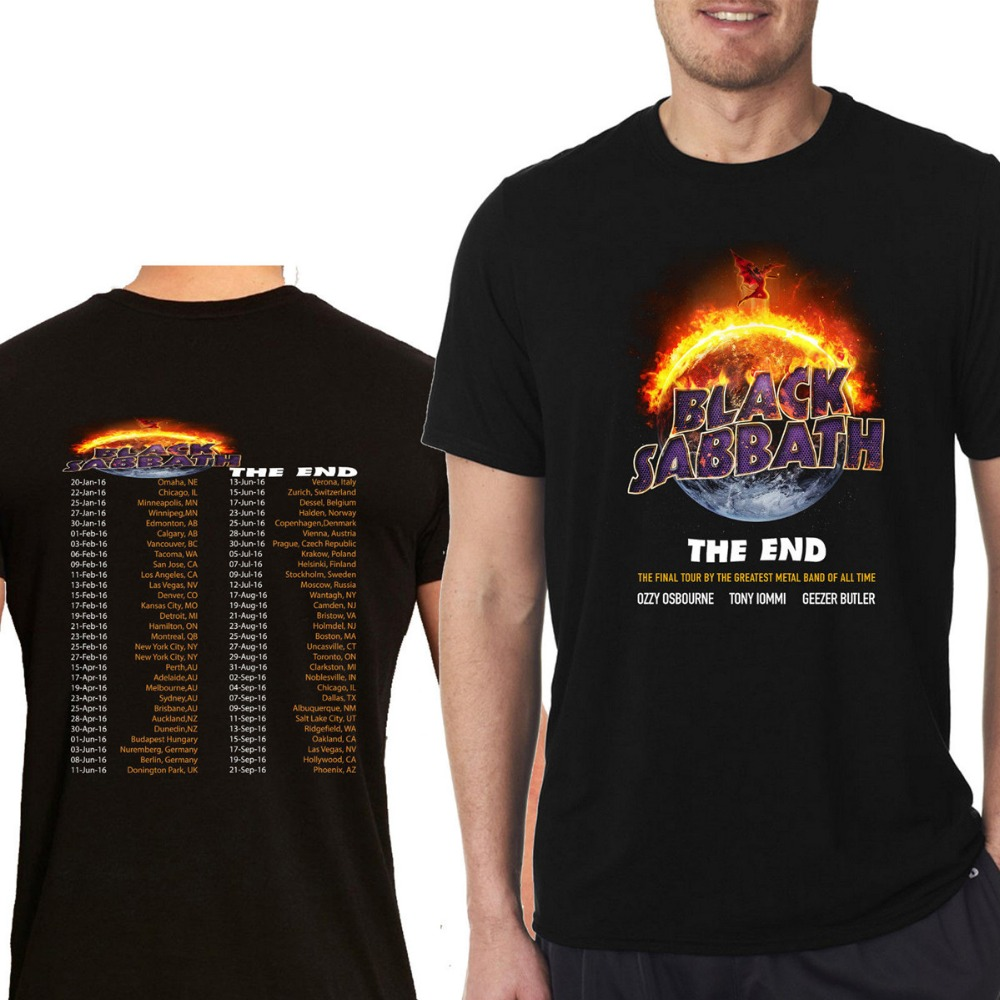 Black sabbath t shirt avengers - Men Tshirt Black Sabbath The End Tour 2016 T Shirt Rock Band Concert Short Sleeve