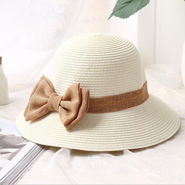 f22ad39eb3723 2017 new Sun Hat Women s bow Straw summer Hats For Women Beach hat chapeau  femme boater