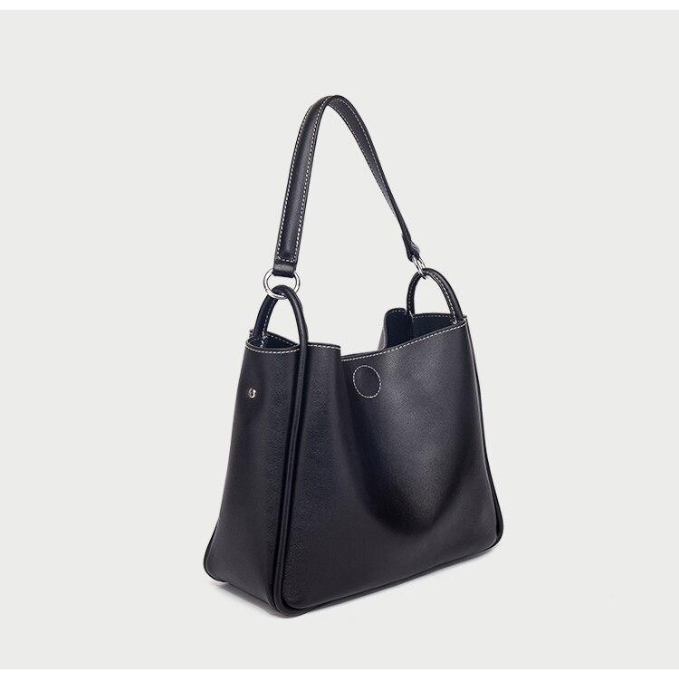 women shoulder bag Large capacity bucket Handbags Quality leather Women's Totes Shopping Bag bolsa feminin