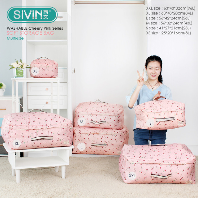 Storage Bags Travel Organizer Clothes Housekeeper Containers Quilts Cosmetics Closet Box Case
