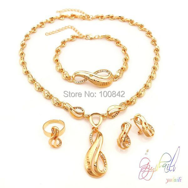 best selling dubai gold jewelry set wedding jewellery designs