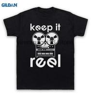 GILDAN cotton O-neck printing fashion T shirt Keep It Reel T Shirt Reel To Reel
