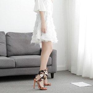 Image 5 - Luxus Schuhe Frauen Designer High Heels Riband Sandalen 2019 Party Lässig Elegante Damen Schuhe