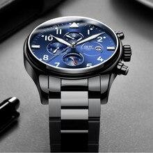 Fashion Pilot Watch Automatic Luxury brand CARNIVAL Multi fu