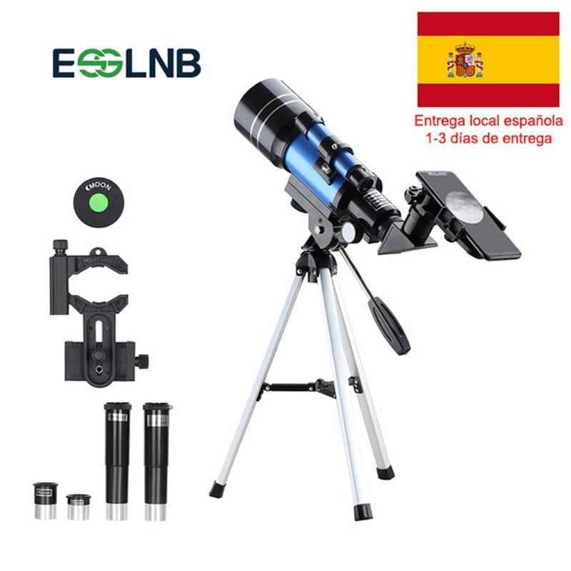 F30070M HD télescope astronomique avec trépied adaptateur téléphone monoculaire lune observation des oiseaux enfants adultes astronomie débutants cadeau