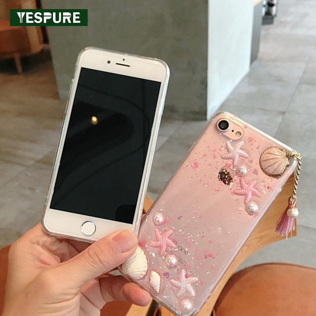 oferta especial 100% de garantía de satisfacción clásico US $8.5 |YESPURE Bling Glitter TPU Transparent Full Covers for Iphone 6 6s  Tassel Lady Cellphone Phone Accessory Star Fundas Capa-in Fitted Cases from  ...