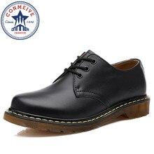 2017 Lovers Martens Shoes Famous Designer Retro Full Grain Leather Men Casual Shoes Fashion Original Male Matrins Shoes