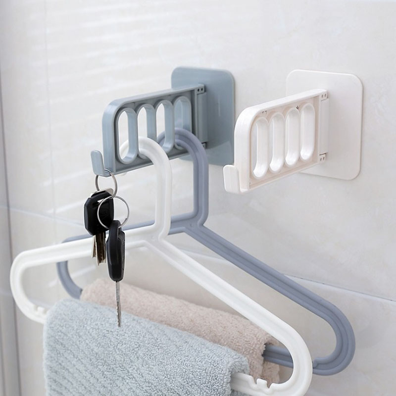 1 Pcs Creative Foldable Sticky wall hanging Hook Folding Self Adhesive Towel Clothes Hanger Space Saving Racks
