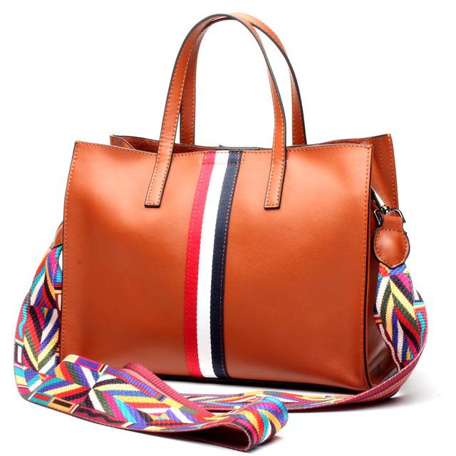 2017 women's genuine leather handbag fashion brief bag cowhide tote bag shoulder messenger bag
