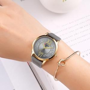 Image 4 - Zegarki damskie 2019 CURREN moda kreatywny analogowy zegarek kwarcowy na rękę Reloj Mujer Casual skórzane damskie zegar kobieta Montre femme