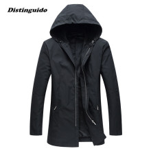 2017 Fashion Autumn Spring Designer Trench Coat Men Jacket Comfortable Windbreaker Jackets Outwear MJK036